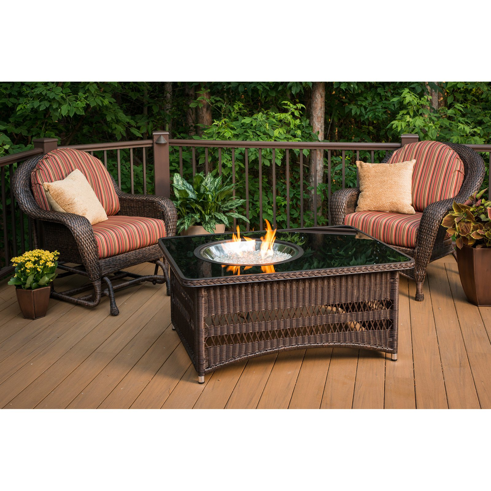 Outdoor GreatRoom Naples Fire Pit Table Walmart