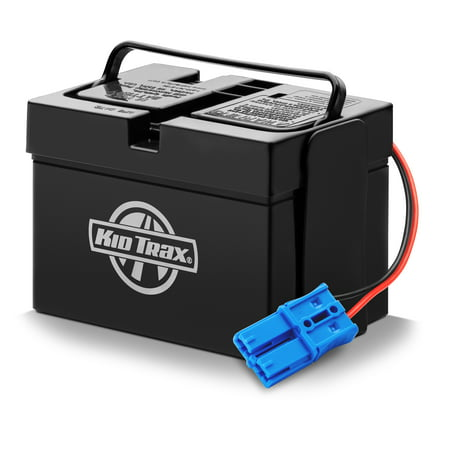 Black Replacement Battery Door - Kid Trax 12-Volt 12AH Replacement Battery with Grid Connection, for all 12-Volt Kid Trax Ride-On Toys