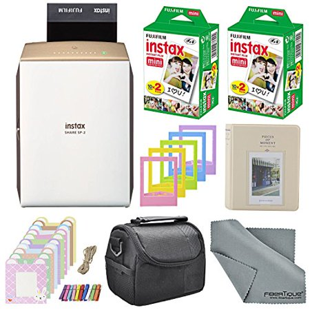 Fujifilm Instax SHARE Smartphone Printer SP-2 w/ 40 Sheets Instax Mini Instan...