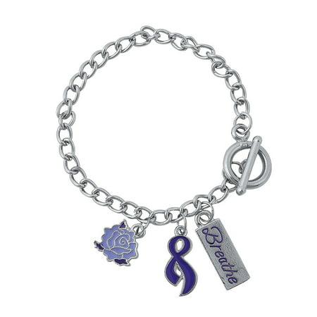 Fun Express - Cystic Fibrosis Charm Bracelet - Jewelry - Bracelets - Novelty Bracelets - 12 Pieces