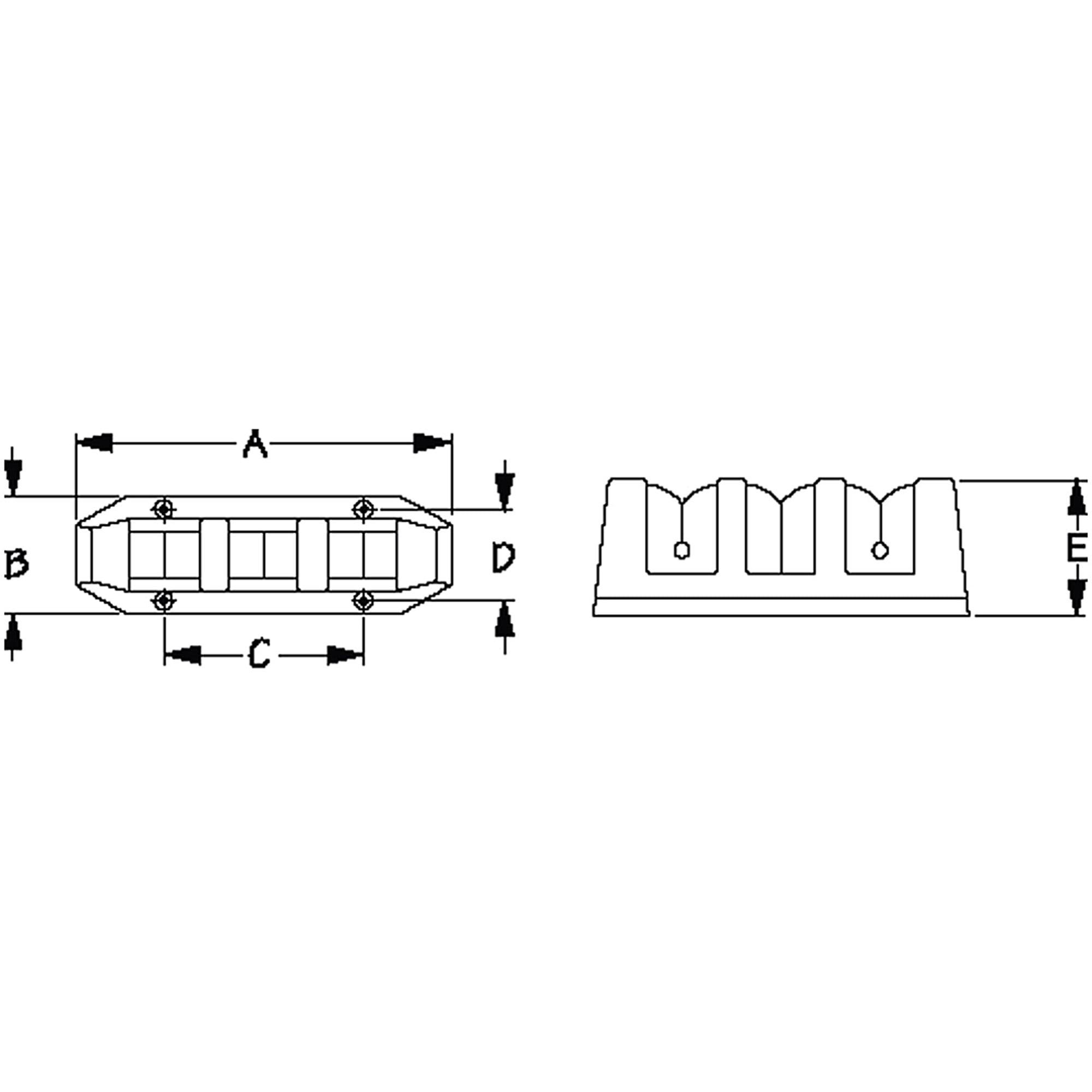 325615 Sea-Dog Line Rod Storage Rack Holds 5 Fishing Rods Set of 2