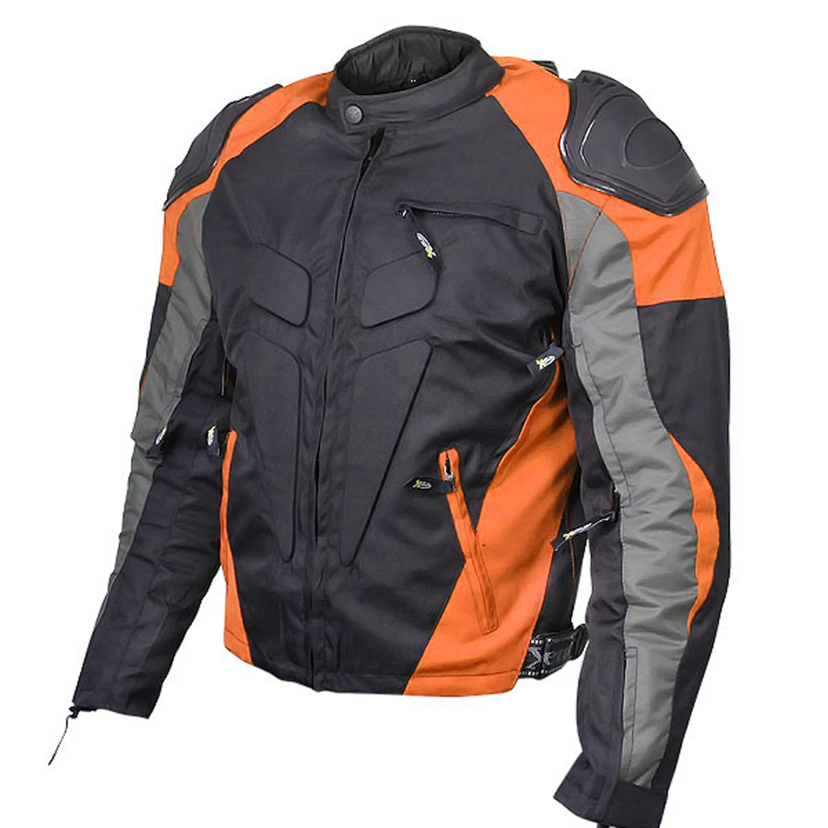 Xelement CF628 Mens Black Armored Textile Racing Jacket