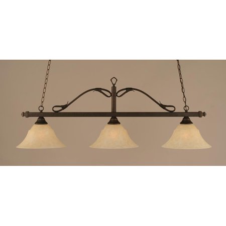 (Red Barrel Studio Negron 3-Light Wrought Iron Rope Kitchen Island Pendant)