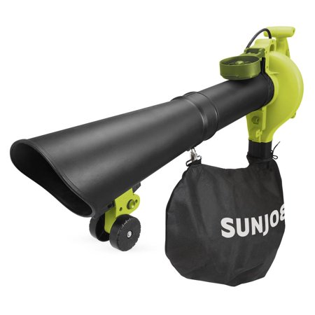 Sun Joe SBJ606E-GA-SJG 4-in-1 Electric Blower | 250 MPH | 14 Amp | Vacuum | Mulcher | Gutter Cleaner (Refurbished)