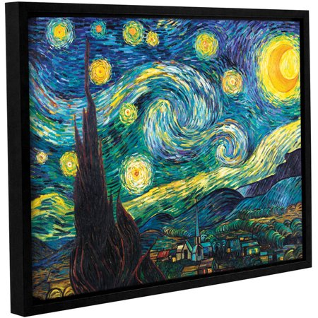 """Vincent Van Gogh """"Starry Night"""" Floater-Framed Gallery-Wrapped Canvas"""