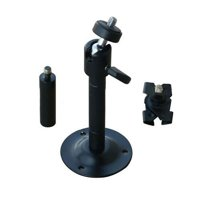 """VideoSecu 1/4"""" x 20 Threads Swivel Security Camera Mount 2-6 Inch Adjustable Universal Pan Tilt CCTV Camera Mounting Bracket with Ceiling Clip 1BO"""