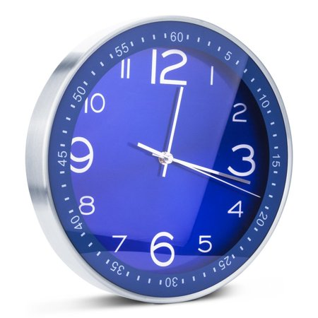 Egundo Blue Silent Wall Clocks Non-ticking Indoor 12 Inches Large Metal on rustic clocks for kitchen, red clocks for kitchen, wall art for kitchen, bookcases for kitchen, magnetic clocks for kitchen, electric clocks for kitchen, bowls for kitchen, atomic clocks for kitchen, unique wall clocks kitchen, wall cabinets for kitchen, wall decals for kitchen, clock kits for kitchen, plates for kitchen, decorative pillows for kitchen, candles for kitchen, lanterns for kitchen, country clocks for kitchen, large italian wall clocks kitchen, wall clocks sports, wall maps for kitchen,