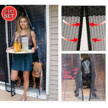2 Set Magnetic Mesh Screen Door   Magic Door Screen   Portable Walk Through Screen Door   Deluxe