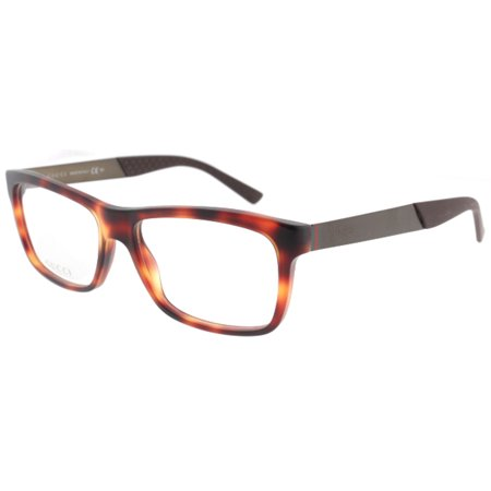 a35d64daa16 Gucci GG 1045 0CTF Havana Brown Dark Ruthenium Unisex 53mm Eyeglasses -  Walmart.com