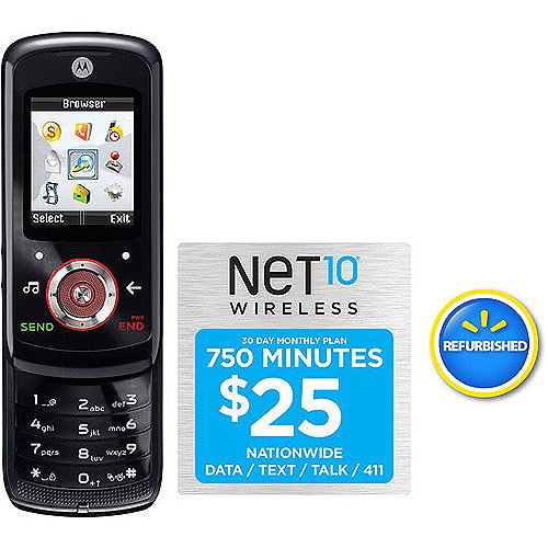 Net10 Motorola Em326g Phone With 750 Min