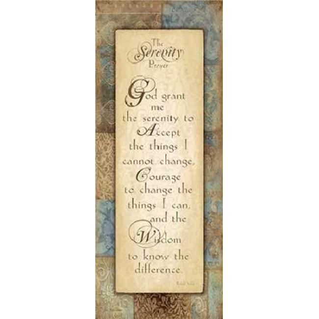 Sagebrush Fine Art PDXJM7544SMALL Serenity Prayer Poster Print by Jo Moulton, 10 x 20 - Small - image 1 de 1