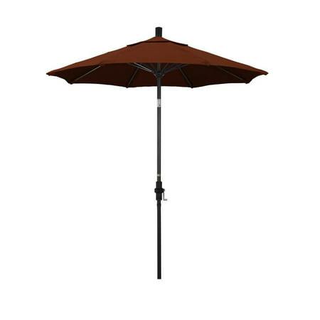 California Umbrella Sun Master Series Patio Market Umbrella in Pacifica with Aluminum Pole Fiberglass Ribs Collar Tilt Crank Lift ()