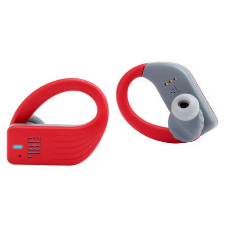 JBL Endurance Peak Waterproof Sport in-Ear Headphones with Built-in Remote and Microphone (Red)