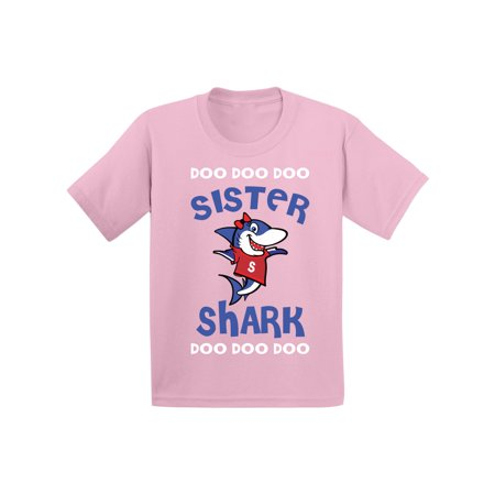 Party Outfit (Awkward Styles Sister Shirt Family Sister Shark Toddler Shirt Shark Family Shirts Kids Shark T Shirt Matching Shark Shirts for Family Shark Birthday Party for Girls Shark Party Outfit )