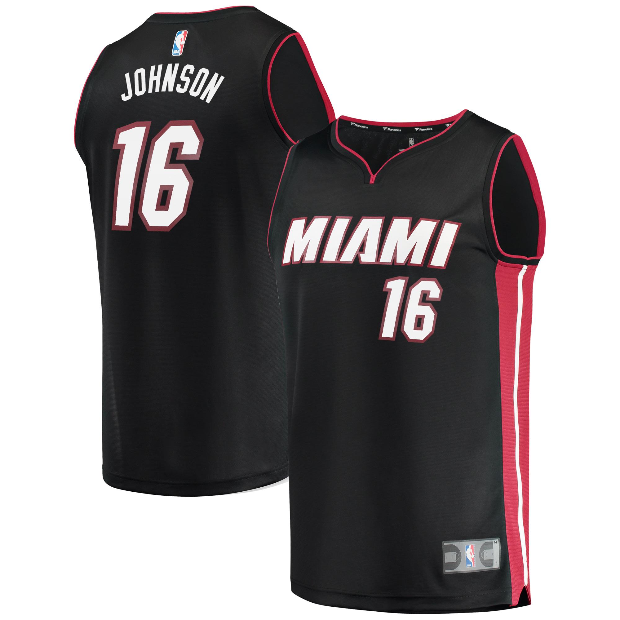 James Johnson Miami Heat Fanatics Branded Fast Break Replica Player Jersey - Icon Edition - Black