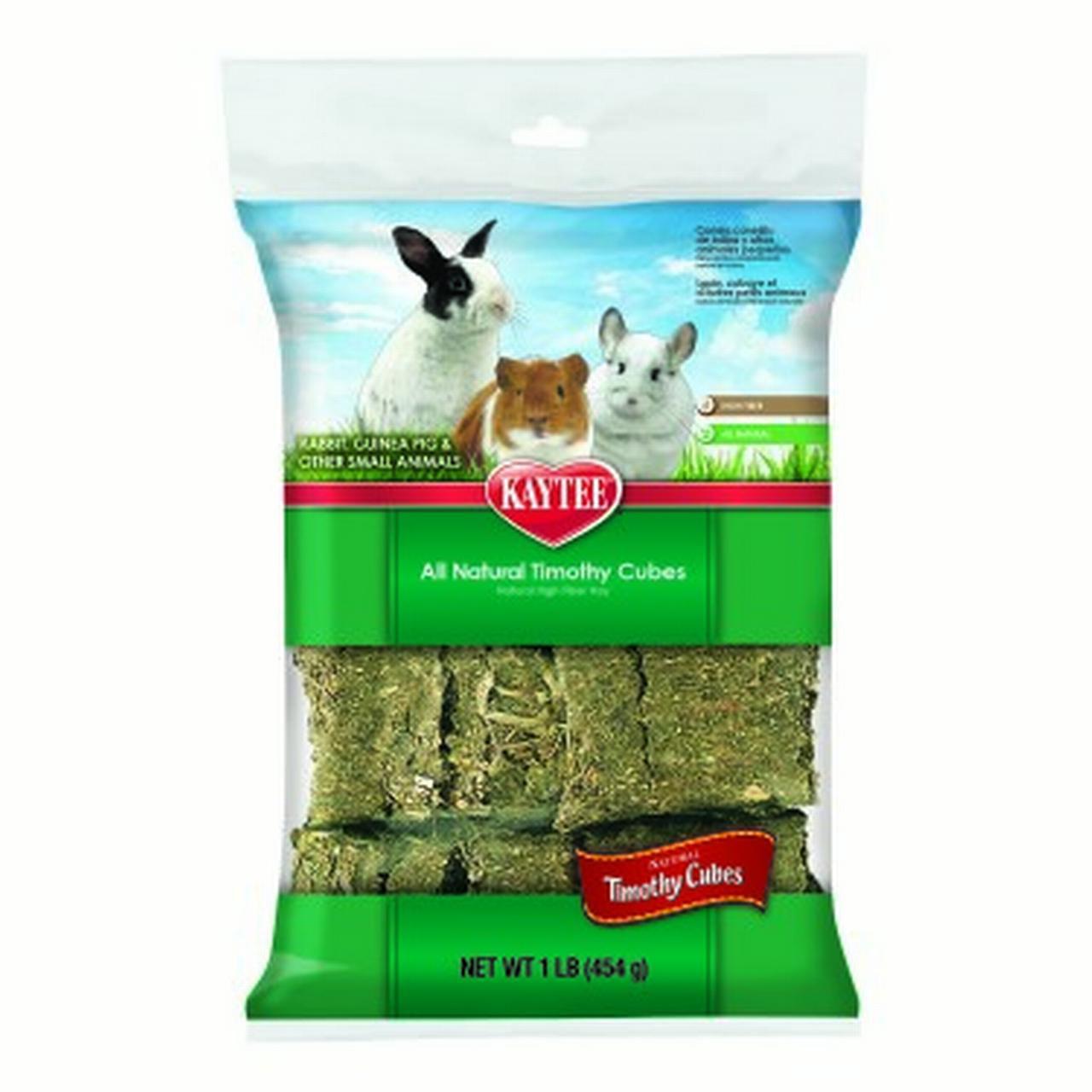 Kaytee Natural Timothy Cubes Small Animal Treats, 1 Lb