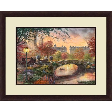 Thomas Kinkade,Autumn in New York, 20x16 Decorative Wall Art