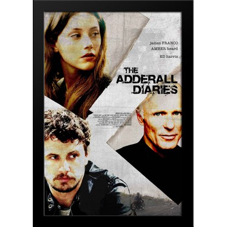The Adderall Diaries 28X36 Large Black Wood Framed Movie Poster Art Print