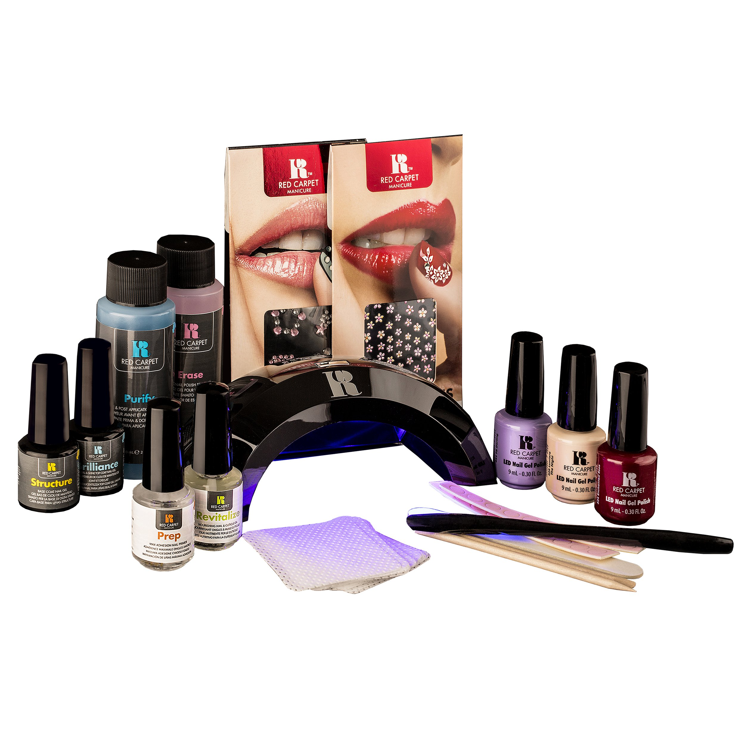 Red Carpet Manicure Beauty and the Beast Collection LED Nail Gel Polish Kit