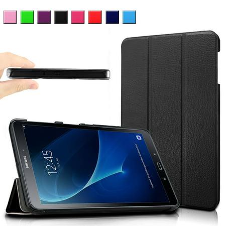 Infiland Samsung Galaxy Tab A 10.1-Inch SM-T580 / SM-T585 Tablet Case, Slim Smart Tri-fold Cover