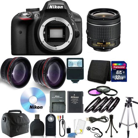 Nikon D3300 Digital SLR Camera with 18-55mm + 32GB + Accessory