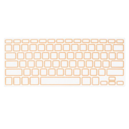 Unique Bargains Computer Keyboard Cover Protective Film Orange Clear for Apple MacBook Air