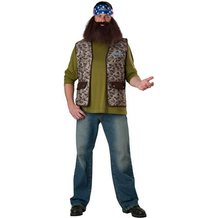 Duck Hunter Costume Halloween (Duck Dynasty Willie Adult Halloween)