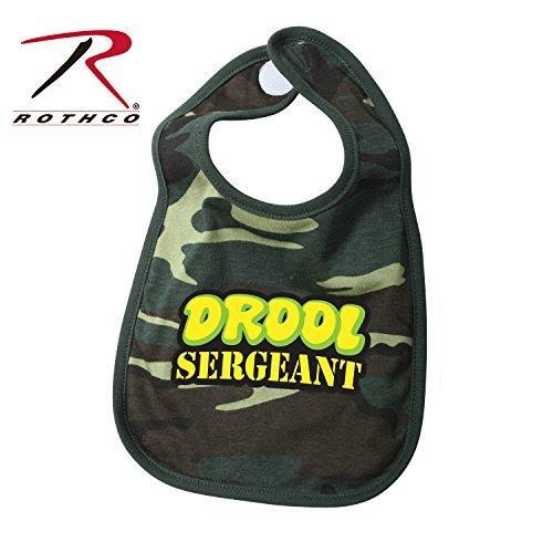 Woodland Camo Drool Sergeant  Cotton Bib