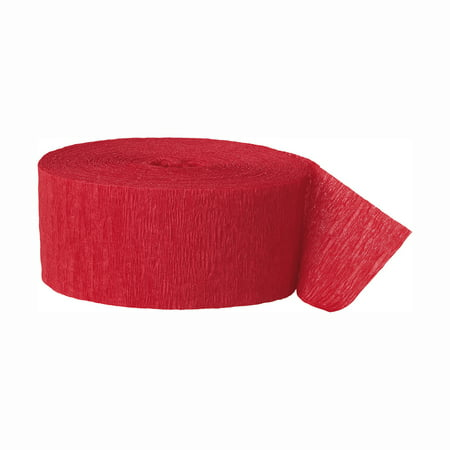 (2 pack) Crepe Paper Streamers, 81 ft, Red, 1ct - Coral Streamers