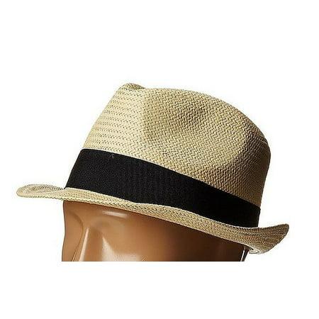 Men's One Pop Band Short Brim Panama Hat One Size