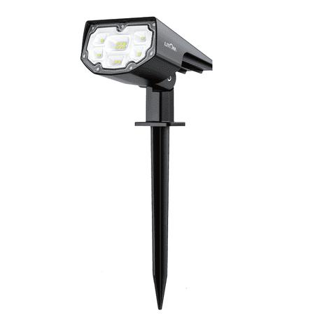 LITOM 12 LED Solar Lights Upgraded, IP67 Waterproof Solar Landscape Lights Outdoor with 2 Lighting Modes, 2-in-1 Adjustable Solar Landscape Spotlight (Solar Landscaping Spot Lights)