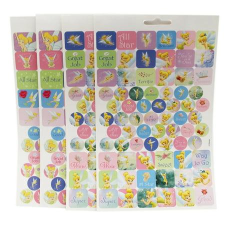 Disney Fairies Tinker Bell Superstar Pixie Assorted Sticker Sheets (4 Sheets)