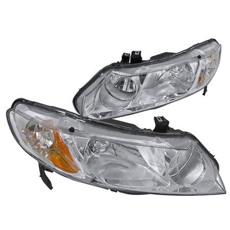 Spec-D Tuning 2006-2011 Honda Civic 4Dr Oem Style Headlights Pair 2006 2007 2008 2009 2010 2011 (Left + Right) ()