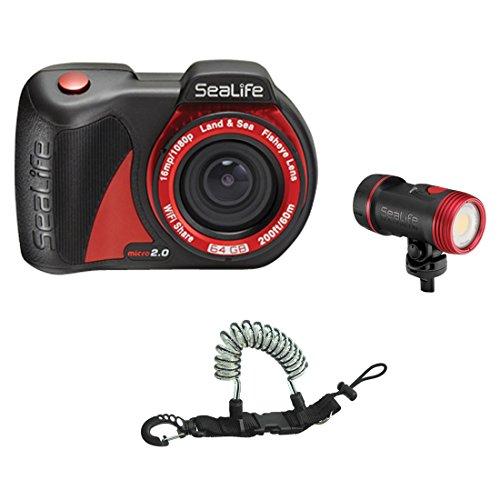 SeaLife Micro 2.0 16mp WiFi Underwater Camera 64GB w  Sea Dragon 2500F COB LE... by SeaLife