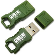EP Green Mini GorillaDrive 16GB Rugged USB Flash Drive, 2-Pack