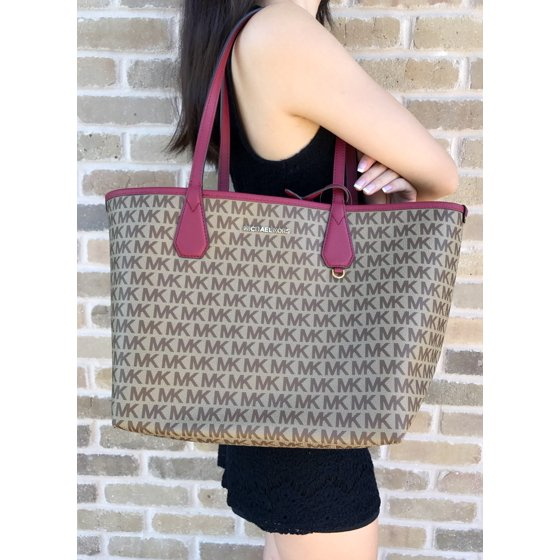 5a7555120b34 Michael Kors - NWT Michael Kors Candy Large Reversible Tote Brown ...