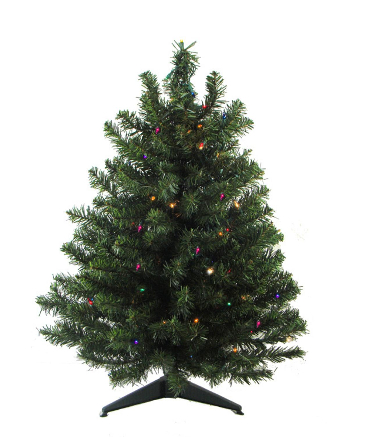 3 Pre Lit Led Natural Two Tone Pine Artificial Christmas Tree Multi Lights