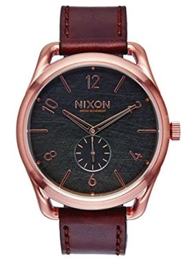391aae029a6 Product Image C45 Leather A4651890 Grey Dial Brown Leather Band Men s Watch.  Nixon