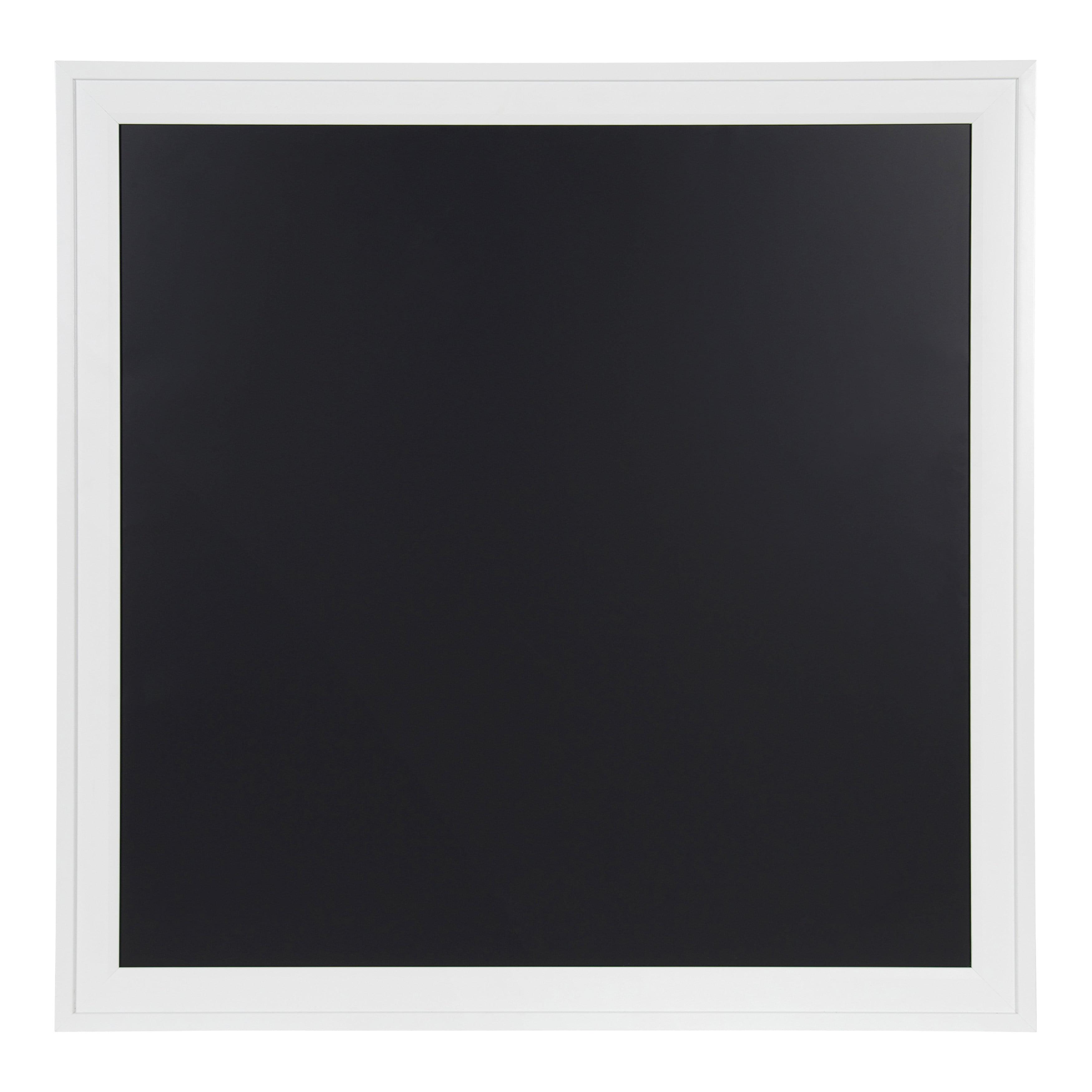 DesignOvation Bosc Square Framed Magnetic Chalkboard, 31.5x31.5, White by Uniek
