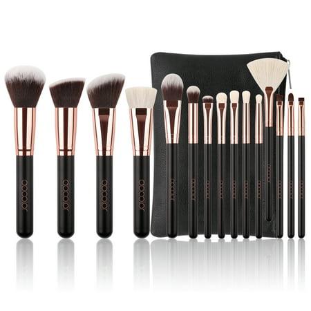 Docolor 15Pcs Professional Makeup Brushes Kit Set Foundation Blending Cosmetic Case - Walmart.com