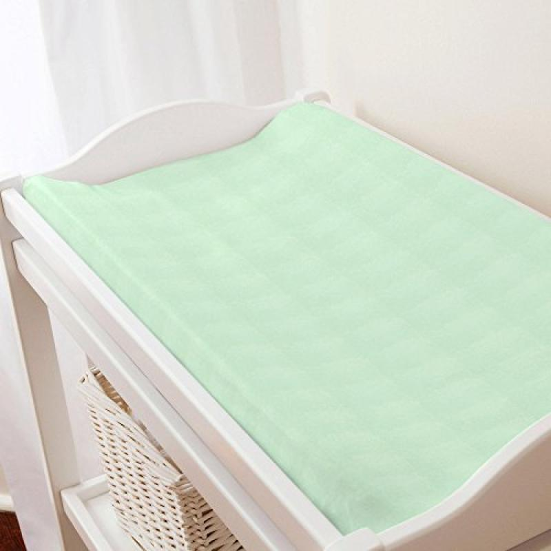 Carousel Solid Mint Minky Changing Pad Cover