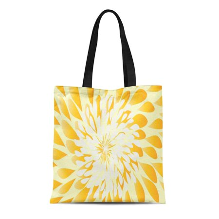 SIDONKU Canvas Tote Bag Watercolor Farmhouse Ivory and Yellow Modern Floral Pattern Sweetheart Reusable Handbag Shoulder Grocery Shopping Bags