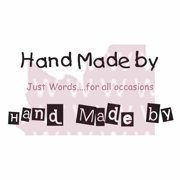 """Woodware Clear Stamps 2.5""""X1.75""""-Hand Made By"""
