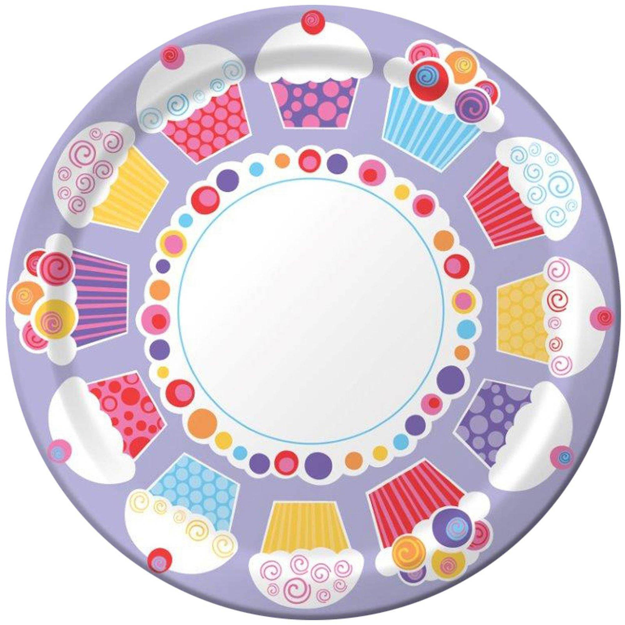 Sweet Cupcake Party Dinner Plates, 8pk