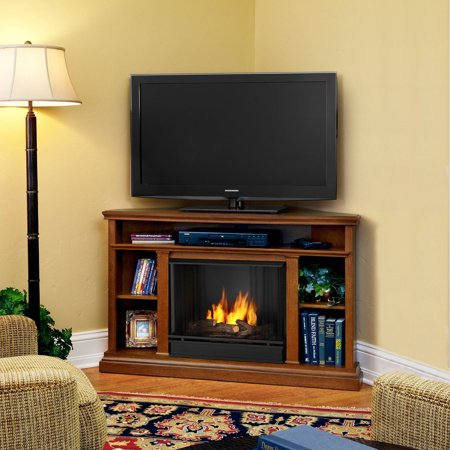 Real Flame Churchill Ventless Gel Fireplace - Oak