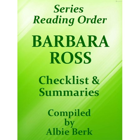 Barbara Ross: Series Reading Order - with Summaries & Checklist - eBook