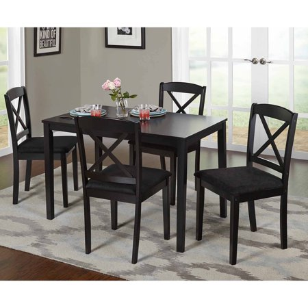 Mason 5 Piece Cross Back Dining Set, Multiple Colors