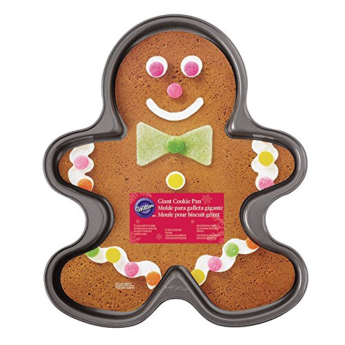2105-059 Nonstick Giant Gingerbread Boy Cookie Pan, Makes a cookie large enough to feed a holiday crown By... by