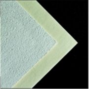 Crescent 10 x 15 inch Smooth Surfaced Melton Mounting Board - White & Cream Pebbled, Pack 15