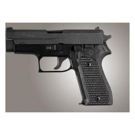 Hogue Sig Sauer P225 Piranha Grip G 10   G Mascus Black Gray